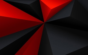 red, digital art, gray, black, geometry, abstract