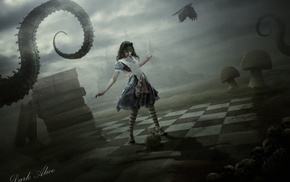 artwork, fantasy art, Alice in Wonderland