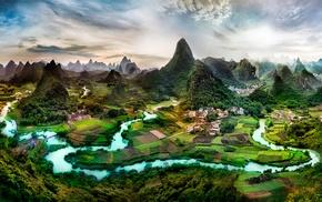 landscape, China, digital art