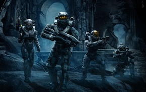 Halo, Blue Team, video games, Master Chief, Linda, 058