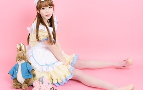 Alice in Wonderland, girl, Korean, model, Yurisa Chan, cosplay