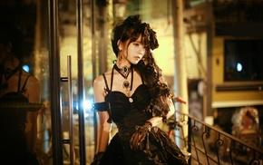 Gothic, Yurisa Chan, girl, model, Korean