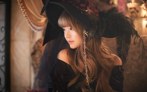 Korean, girl, Gothic, model, Yurisa Chan