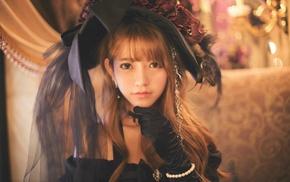 Gothic, Yurisa Chan, model, girl, Korean