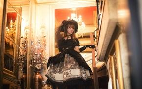 girl, Yurisa Chan, model, Korean, Gothic