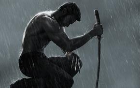katana, 3D, Wolverine