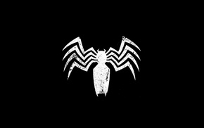 Spider, Man, symbols, spider, Venom, logo