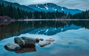 mountain, reflection, British Columbia, landscape, lake, Canada