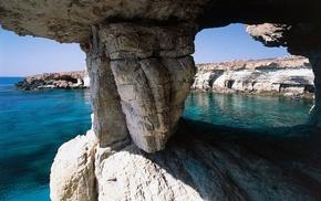 cliff, nature, Cyprus, beach, rock, sea