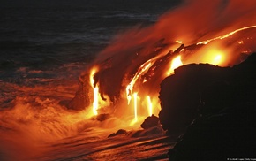 nature, lava, volcano, landscape, photography