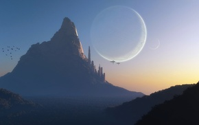 fantasy art, science fiction, planet