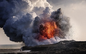 Hawaii, eruptions, landscape, lava, rock, nature