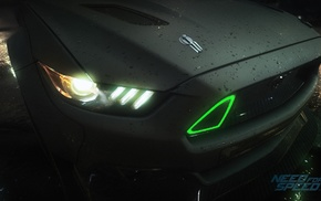 racing, video games, green, anime, 2015 Ford Mustang RTR, Need for Speed