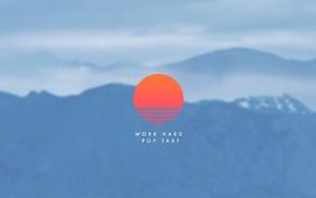 mountain, work, motivational, sunrise