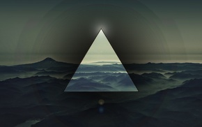 abstract, polyscape, triangle