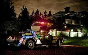DeLorean, car, Back to the Future