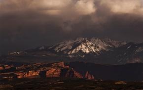 nature, Colorado, clouds, mountain, snowy peak, landscape