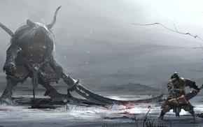 fantasy art, sword, warrior