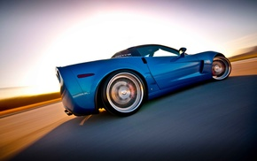 sports car, blue cars, car, Corvette