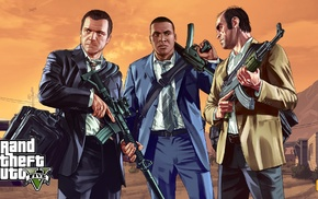 Grand Theft Auto V, Rockstar Games, video game characters