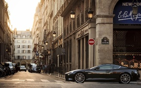 street, road, Aston Martin Vanquish, Aston Martin, building, car