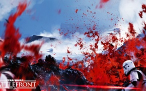 Star Wars Battlefront, lava, EA  Games, TIE Fighter, Star Wars, dice