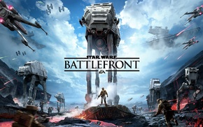 Star Wars Battlefront, blaster, AT, AT, T, 47 airspeeder