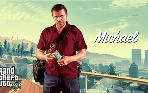 Rockstar Games, Grand Theft Auto V, video game characters