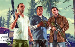 Grand Theft Auto V, video game characters, Rockstar Games
