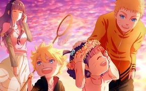 Naruto Shippuuden, families, wreaths, Uzumaki Himawari, Uzumaki Boruto, anime