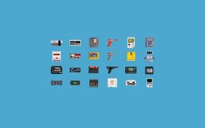 Nintendo Entertainment System, consoles, GameBoy, pixel art, video games, 8