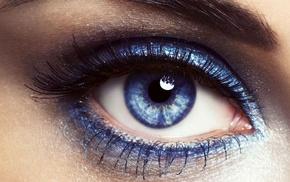 blue eyes, eyelashes
