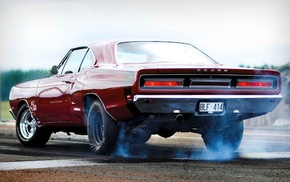 muscle cars, red cars, car, Dodge Charger