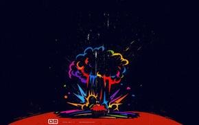 digital art, explosion