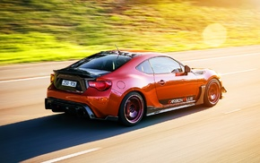 car, tuning, red cars, Toyota GT86