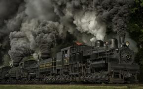 USA, dust, wheels, nature, railway, grass