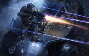 fantasy art, Halo, video games, Master Chief