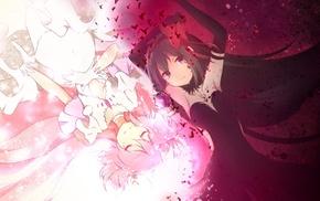 Mahou Shoujo Madoka Magica, anime girls, Kaname Madoka, anime, Akemi Homura, Akuma Homura