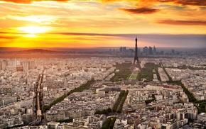 France, city, Paris, Eiffel Tower, building