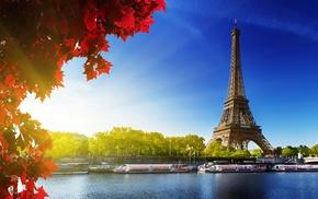 building, Eiffel Tower, city, France, Paris