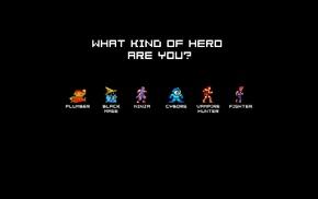 retro games, heroes, minimalism, 8, bit