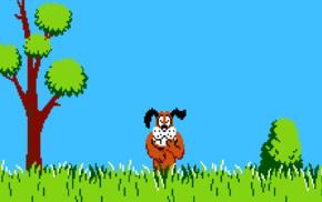 dog, 8, bit, Duck Hunt, Nintendo Entertainment System
