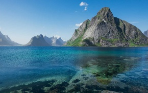 nature, water, Norway, landscape, summer, island