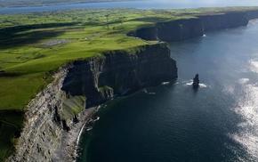 cliff, sea, coast, landscape, nature