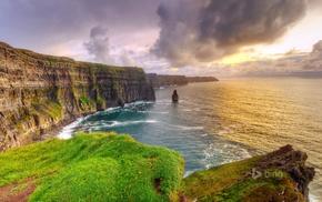 nature, cliff, sea, landscape, coast