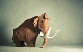 animals, paper, mammals, origami, artwork