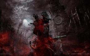 PlayStation 4, Bloodborne, blood, video games