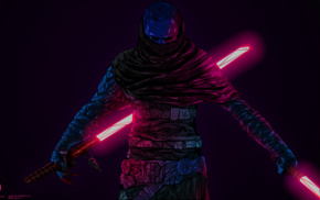 lightsaber, Sith, Star Wars  The Force Unleashed II, digital art, Star Wars, artwork
