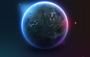 space art, stars, digital art, artwork, satellite, Earth
