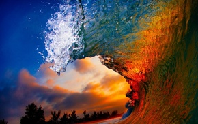 waves, coast, liquid, nature, water, beach